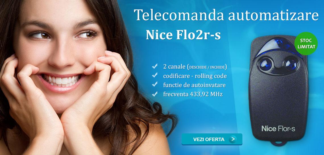Telecomanda automatizare Nice cu 2 canale Flor-s FLO2R-S